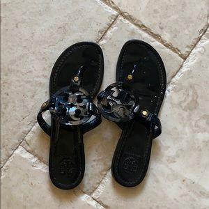 Tory Burch Miller Flat Sandals black patten
